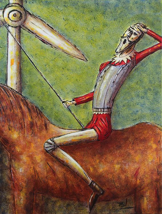 Don Quichottes Erwachen - 2009, Acryl auf Leinwand, 60 x 80 cm
