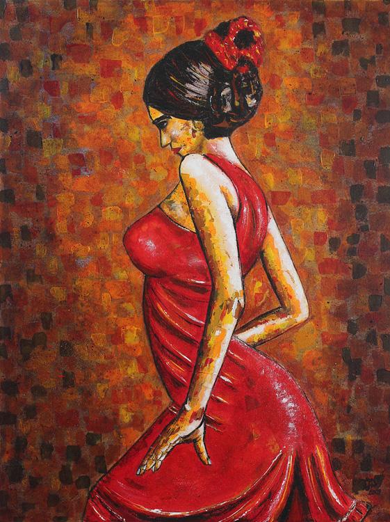 Flamencotänzerin II - 2009, Acryl auf Leinwand, 60 x 80 cm
