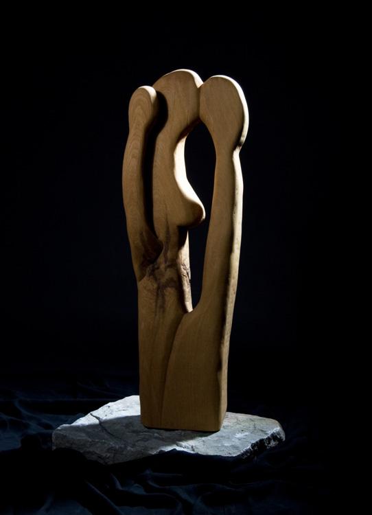 Lebenskreis - 2005, Eiche, H: 90 cm
