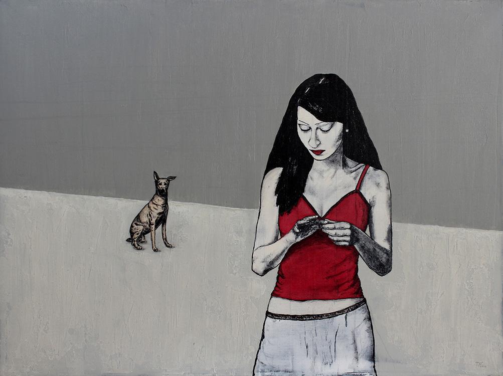 Mai 1989 - 2012, Acryl auf Leinwand, 80 x 60 cm