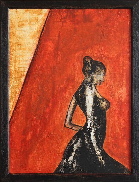 Seguidilla I - 2005,  Acryl auf Leinwand, 30 x 40 cm