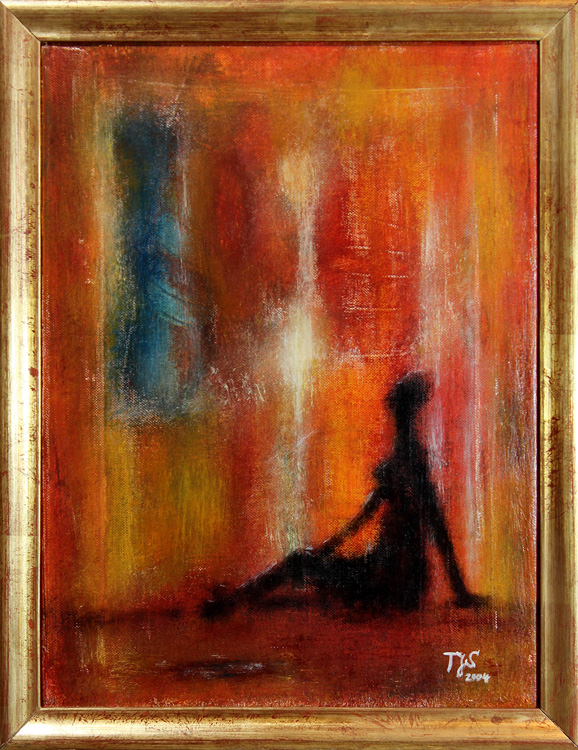 Vermisster Traum - 2004, Mischtechnik auf Leinwand, 30 x 40cm