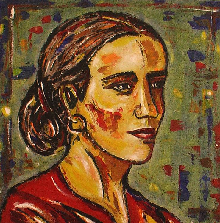 Portrait einer Frau - 2009, Acryl auf Leinwand, 60 x 60 cm