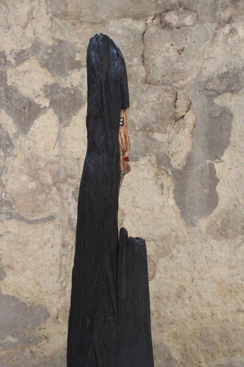 Mönch - 2008, Holz bemalt und getönt, H: 1,23 m