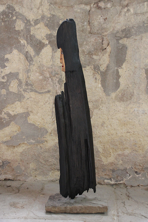 Mönch - 2008, Holz bemalt, H: 1,23 m