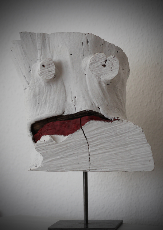 The Head - 2013, Holz bemalt, H: 35 cm